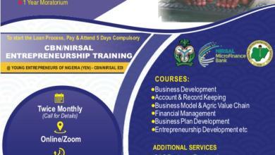 Photo of CBN/NIRSAL Appoint YEN As Entrepreneurship Development Partner