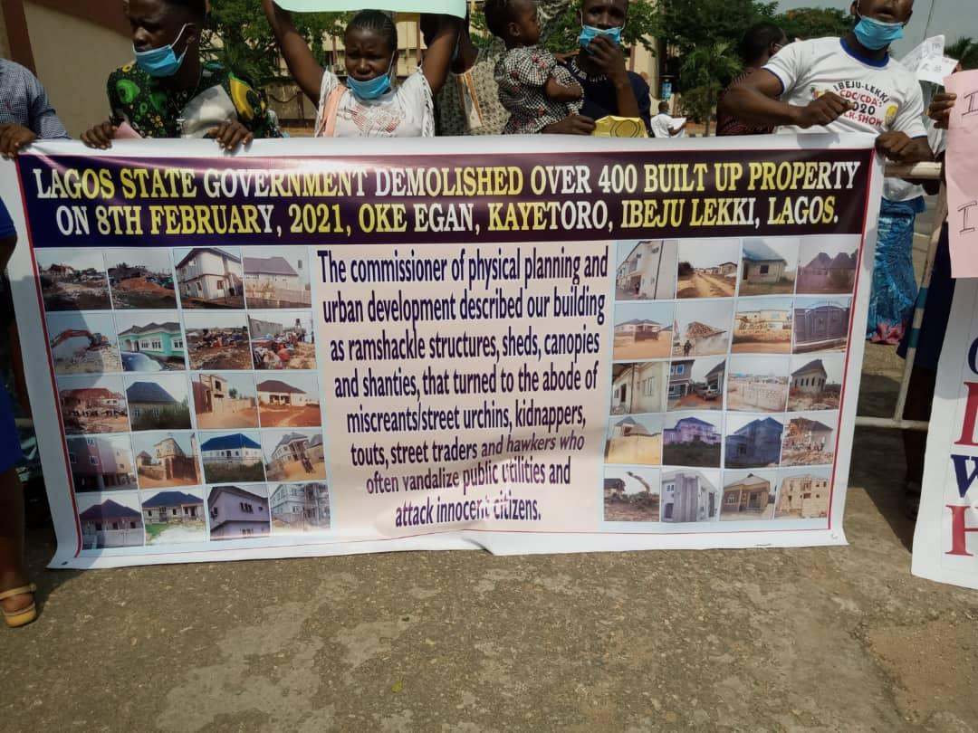 Residents of Oke-Egan Community, Kayetoro, Ibeju-Lekki Seek Compensation From Lagos Govt Over Demolition of Properties