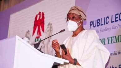 Photo of In Pictures, Aregbesola At Public Lecture In Honour Of Osinbajo