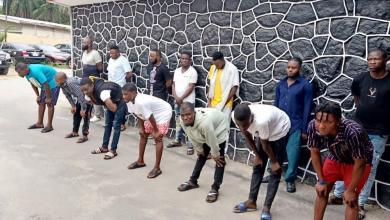 Photo of EFCC Arrests 14 'Yahoo' Boys In Lagos
