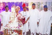 Photo of In Pictures, Ooni Of Ife, Hamzat Lead Dignitaries To Demola Popoola's Wife's 50th Birthday