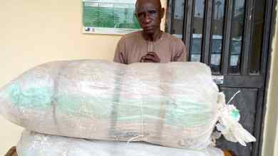 Photo of Wanted Abia Major Drug Supplier Arrested With Over 100kg Cocaine, Cannabis; Trafficker, 61, Nabbed In Taraba With 58.50kg Skunk