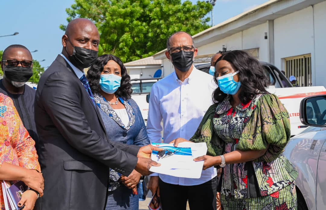 Sanwo-olu's Wife Presents Vehicles To Improve Fight Against Rape, Defilement, Others
