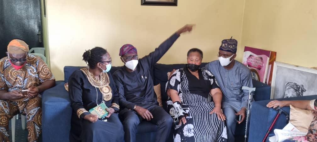 Sanwo-Olu, Abiru Pay Condolence Visit To Family Of Late Brigadier- General Olatunji Olayinka