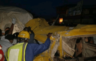 Three Injured As Truck Rams Into Commercial Bus In Lagos