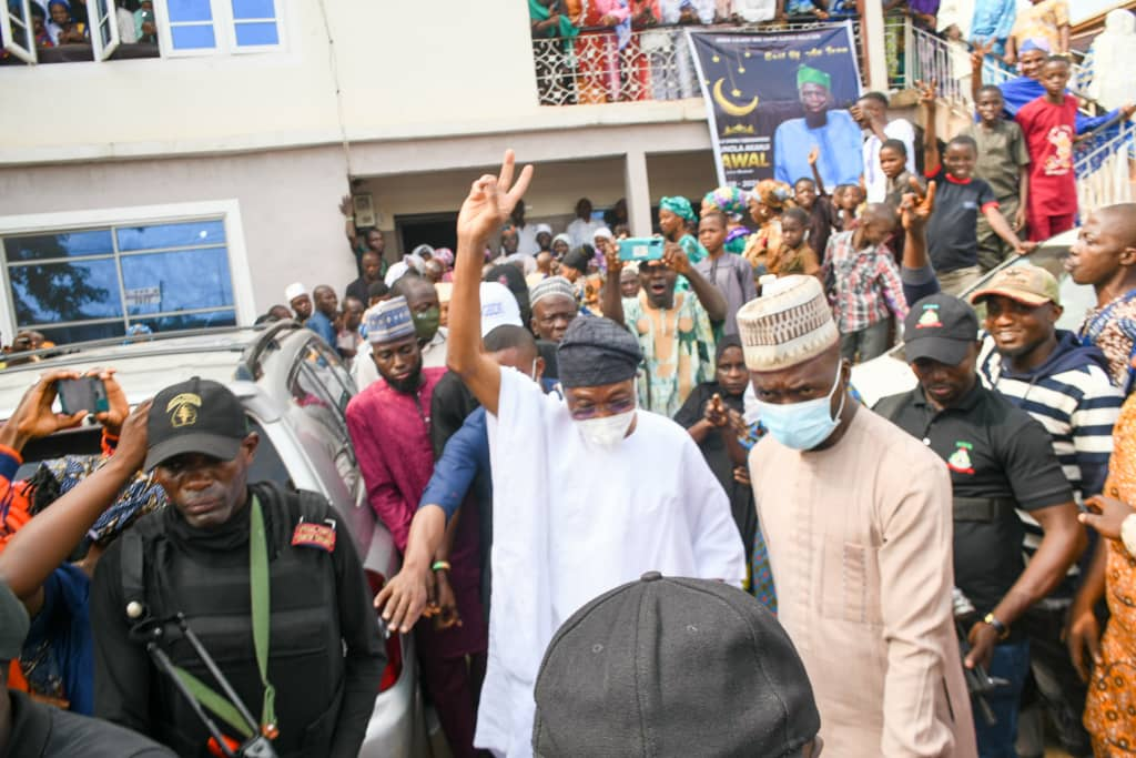 In Pictures, Aregbesola Pays Condolence Visit To Family Of Deceased APC Chieftain G.O. Lawal In Ikirun