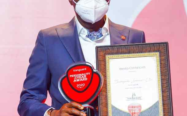 Sanwo-Olu Wins Vanguard Personality Of The Year Award, Dedicates Award To Lagosians