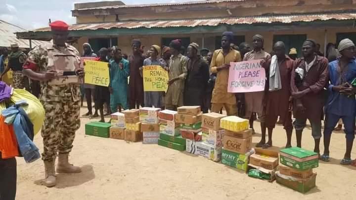 14 Teenagers, 31 Others Quit ISWAP-Boko-Haram, Surrender To Nigerian Troop At Konduga