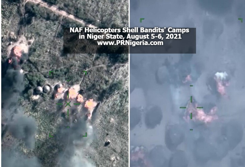 NAF Helicopters 'Rain' Rockets On Bandits' Camps, Eliminate 70 In Niger + Photos