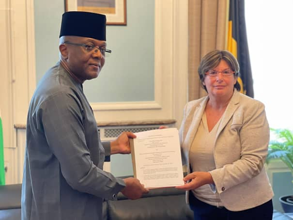 Nigerian Embassy In Belgium Moves To Attract FDI; Signs MoU With Law Firm