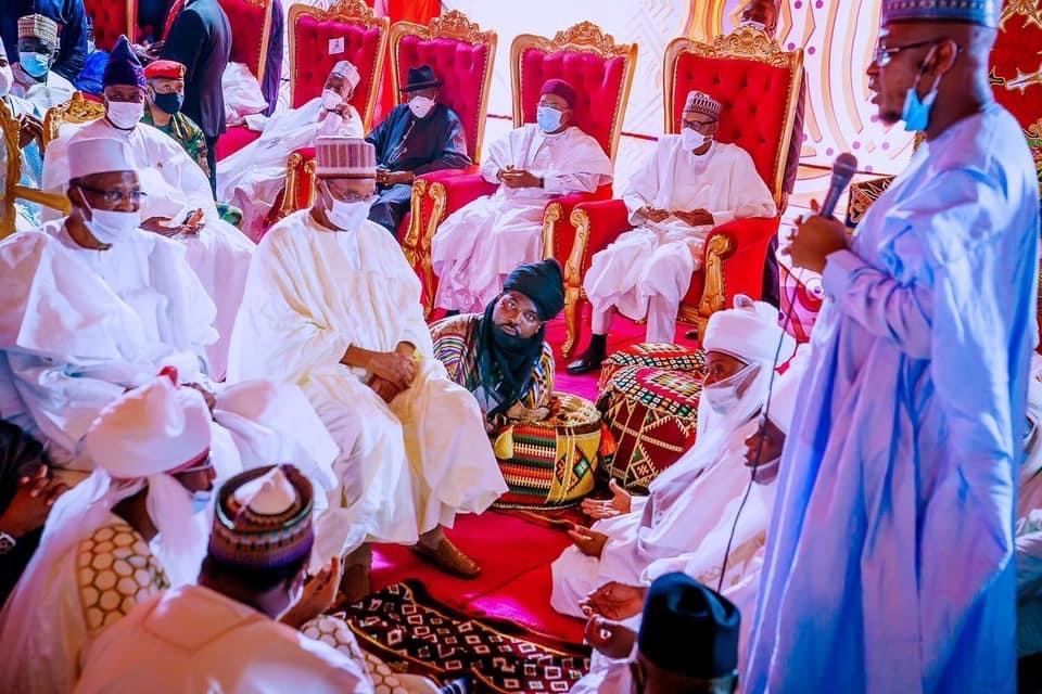 Images As Jonathan, Atiku Abubakar, Others Attend Buhari's Son's Wedding