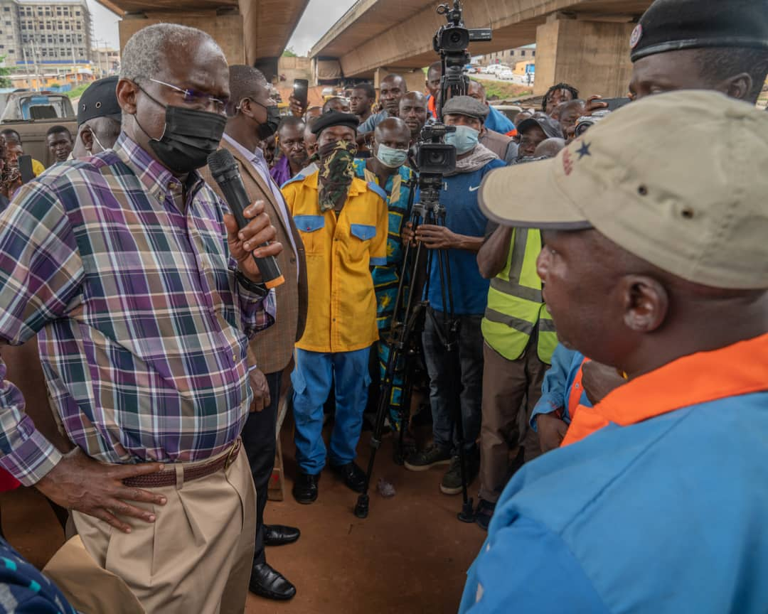 Images As Fashola Inspects Rehabilitated Kara Under Bridge