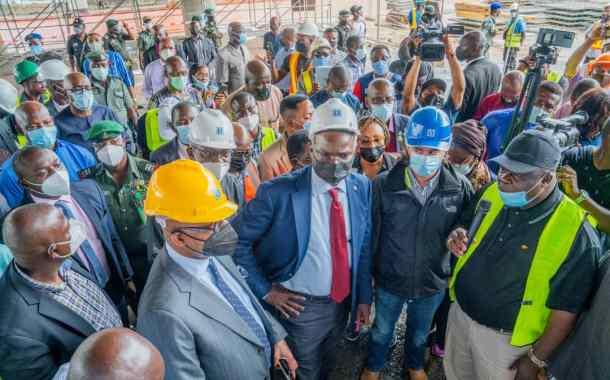 In Pictures, Fashola, Abiodun Inspect Shagamu Interchange Road Project