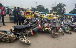 Lagos Task Force Impounds 410 Okadas, Says It Will Not Rest On Its Oars Implementing Traffic Rules, Regulations