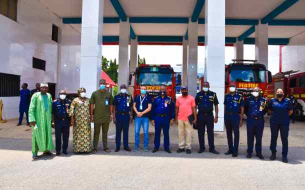 Liberia Fire Service Chief Visits Nigeria, Seeks Collaboration With His Nigerian Counterpart