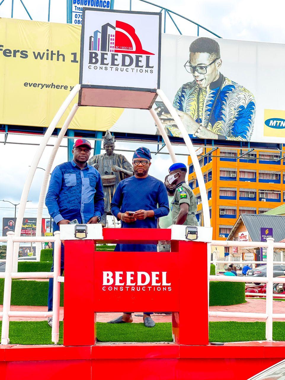 BEEDEL Constructions Reconstruct, Beautify Popular Roundabout In Ibadan