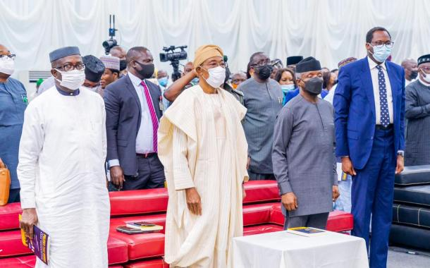 In Pictures, Osinbajo, Aregbesola, Others At Public Presentation Of 'Politics That Works'