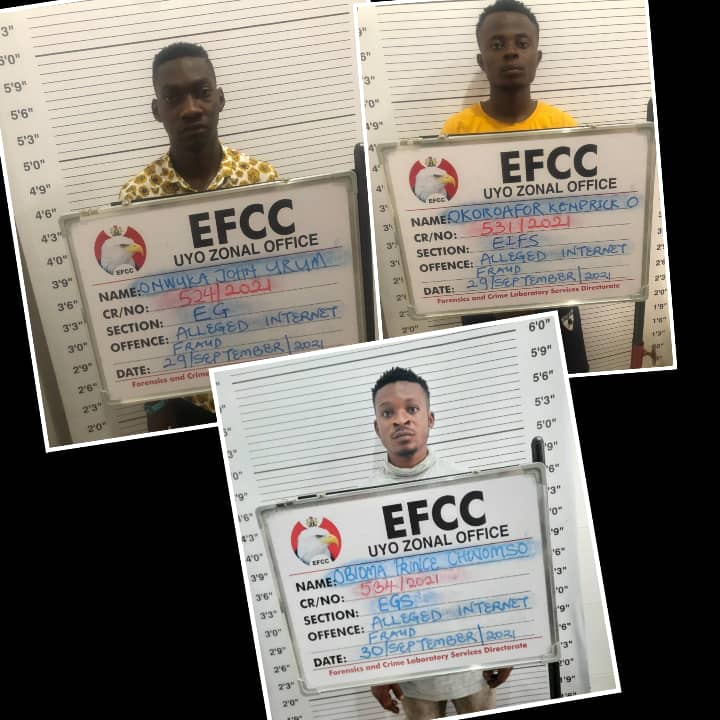 Court Convicts Three Internet Fraudsters In Calabar