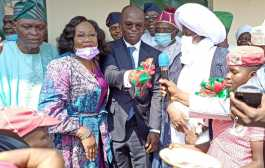 Sen Abiru Commissions 4 Blocks Of 24 Classrooms At Aga Pry School; Alawiye-King, Monarchs, Others Commend Him