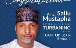 Afikuyomi Felicitates With Mustapha On Turbaning As Turaki Of Ilorin