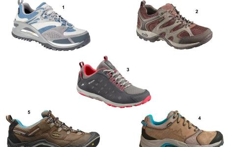 Wet weather hiking shoes