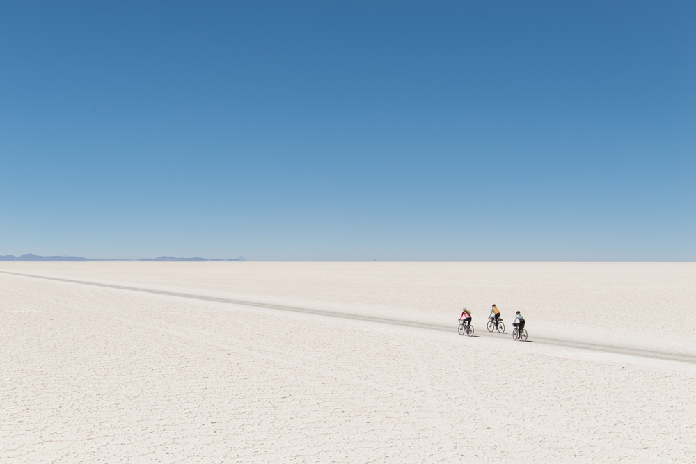 cycling salt flats