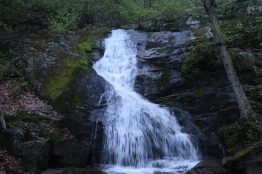 One of the lower cascades of the Crabtree Falls