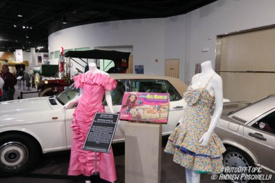 Vintage dresses on display and a very 80s vintage board game. | image: Andrew Pascarella