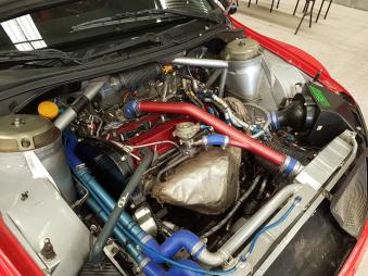 WRC Lancer engine   image: unknown