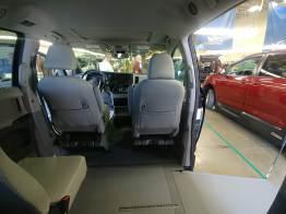 This Sienna had a second row jump seat, retaining the original, 7-passenger capacity.