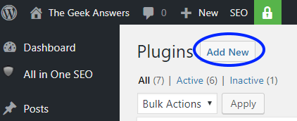 how to add a new plugin to wordpress