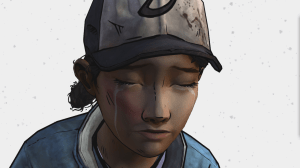 clementine from the walking dead game crying