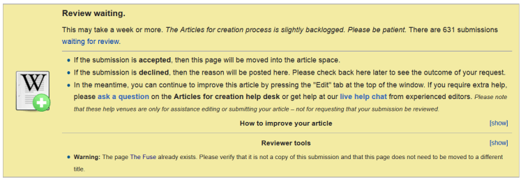 wikipedia review backlog