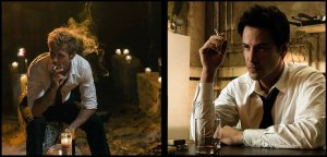 Matt Ryan in NBC's Constantine Keanu Reeves in the 2005 film Constantine