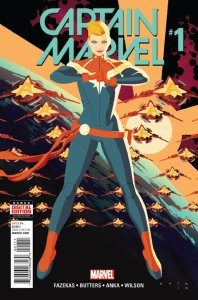 Captain Marvel cover Kris Anka