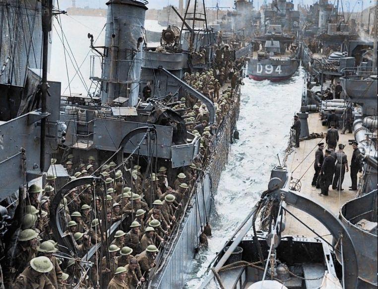 scene from Dunkirk