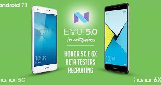 Android 7.0 Nougat si apre la Beta per Honor 6x e Honor 5c