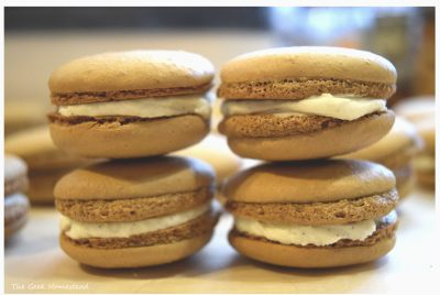 Root Beer Float Macarons