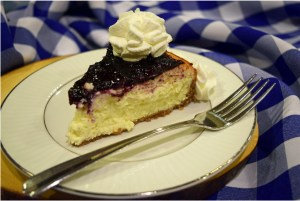 Read more about the article Creamy Cheesecake with Blueberry Jam Topping