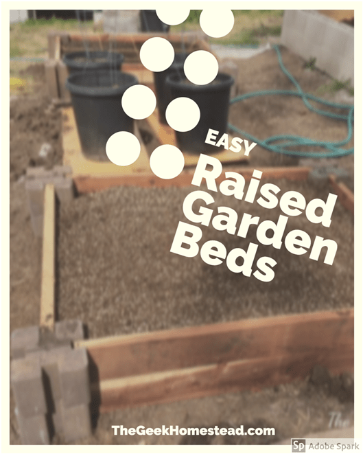 An easily pinnable picture of easy raised garden beds