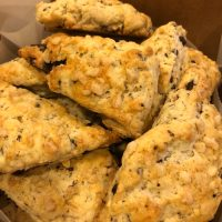 A Scone Redo: Ginger-Cardamom Scones with Cocoa Nib Chocolate