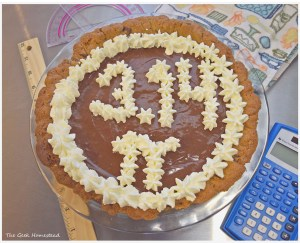 Pi Day Pie: Chocolate Truffle Pie in a Chocolate Chip Cookie Crust