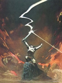 Against the Gods by Frank Frazetta