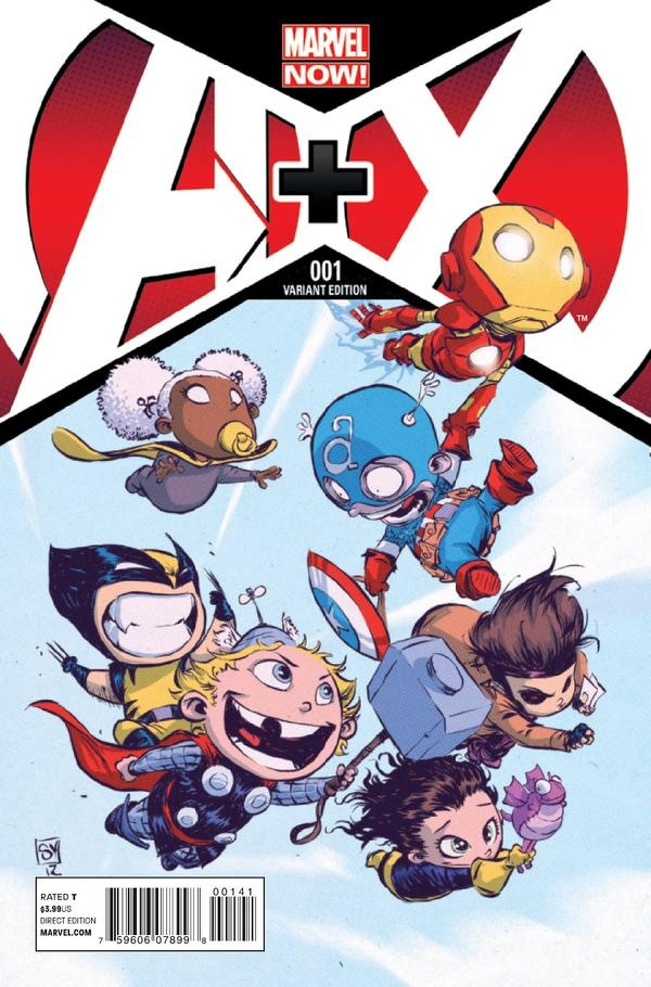 AvX #1 variant cover by Skottie Young