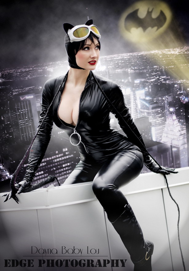 Catwoman cosplayed by Dayna Baby Lou