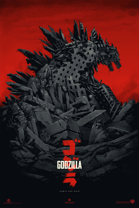 Godzilla Mondo Poster by Phantom City Creative