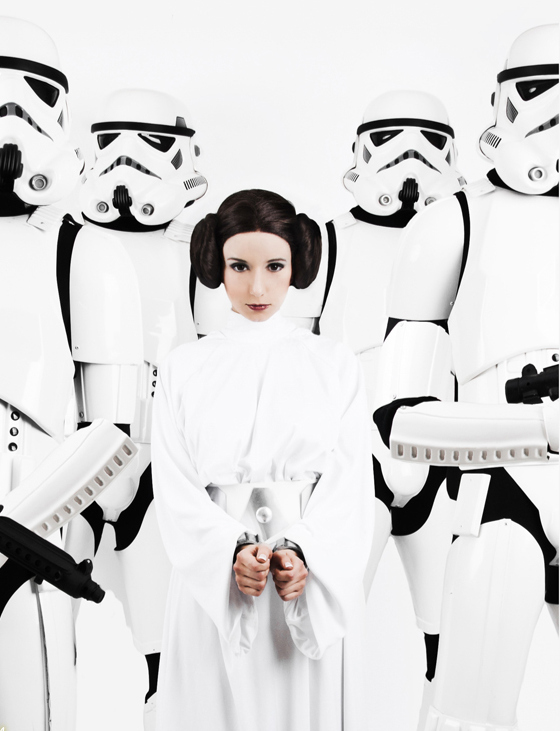 Princess Leia cosplayed by Riddle1 and photographed by Benny-Lee