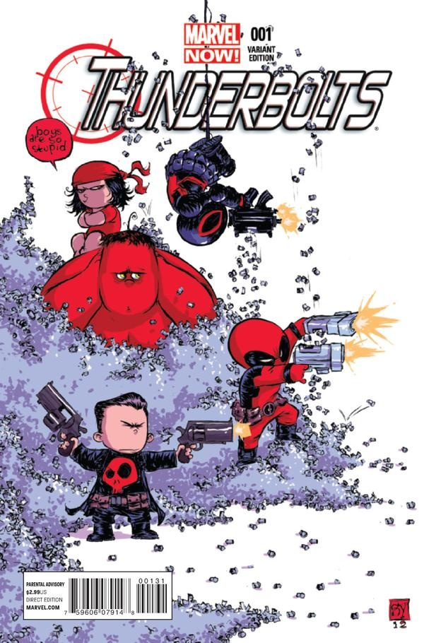 Thunderbolts #1 variant cover by Skottie Young