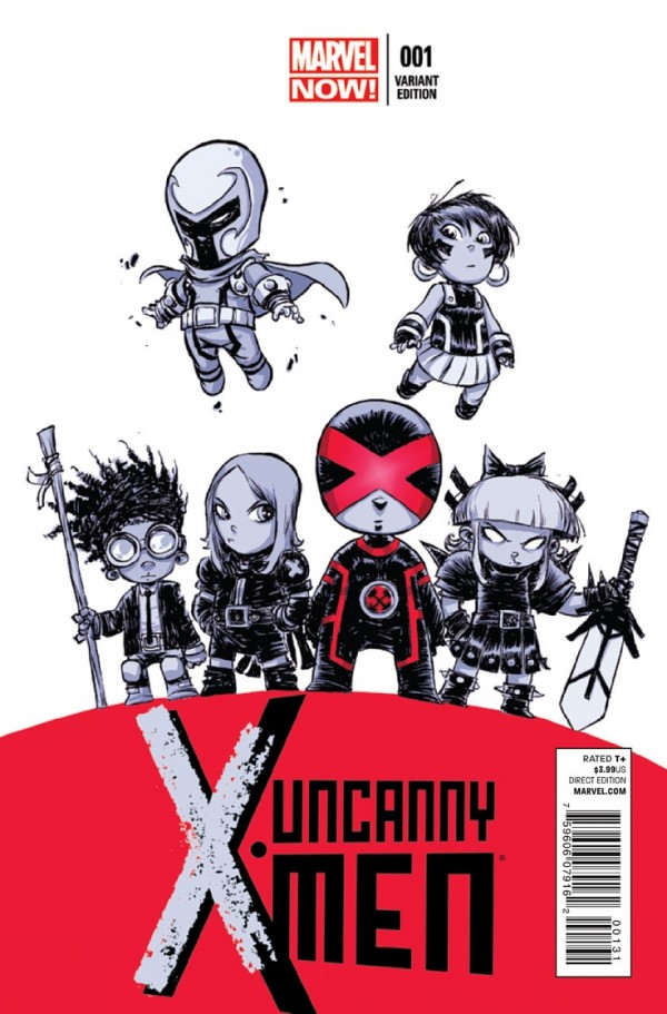 Uncanny X-Men #1 variant cover by Skottie Young