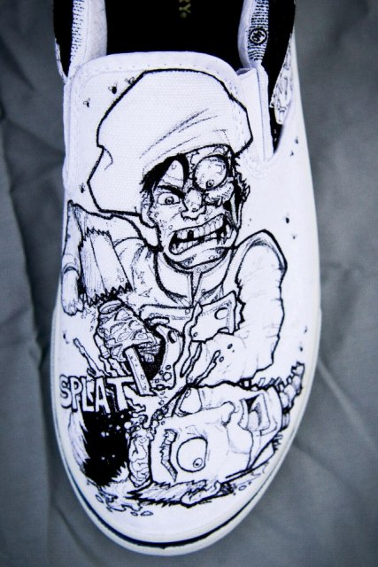Zombie Chef Designer Shoes by Nick Forte - Chef